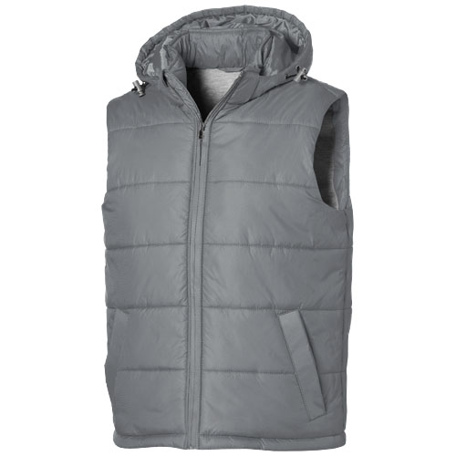 Basic heren bodywarmer grijs